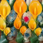 オアハカの「花ロウソク」は、Teotitlan del Valle村の隠れた民芸品
